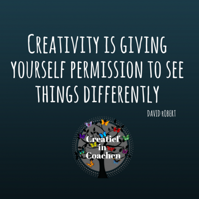 spreuk creativity is giving yourself permission to see....