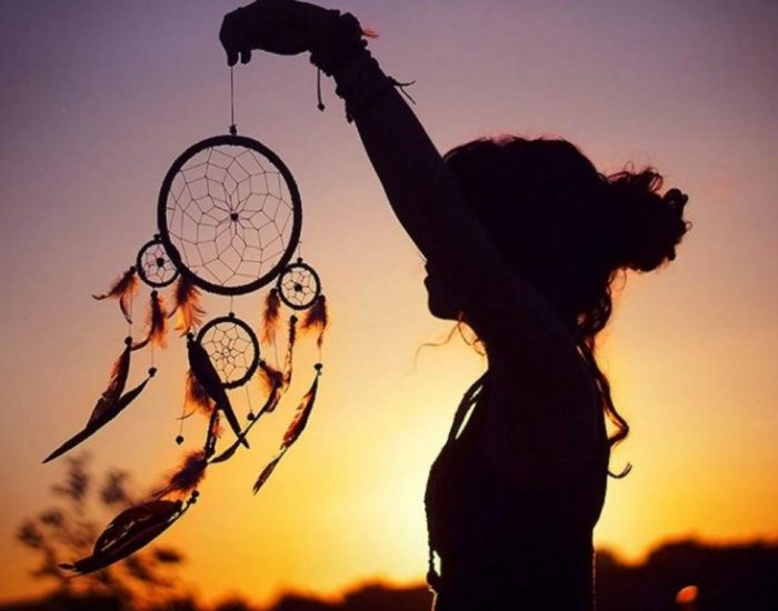 dreamcatcher with woman